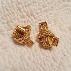 Vintage kenneth jay lane clip on earrings